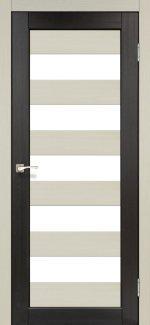 Межкомнатные двери Porto Combi Colore PC-04 Корфад беленый дуб стекло Сатин