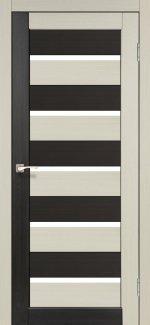 Двери Корфад Porto Combi Colore PC-05 беленый дуб стекло Сатин