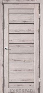 Межкомнатные двери Двері Piano Deluxe PND-01 Корфад дуб нордік скло чорне