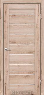 Межкомнатные двери Двери Piano Deluxe PND-01 Корфад дуб тобакко стекло Сатин