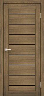 Межкомнатные двери Piano Deluxe PND-01 Корфад дуб браш стекло черное