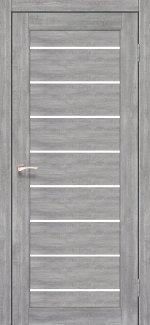Межкомнатные двери Piano Deluxe PND-01 Корфад эш вайт стекло Сатин