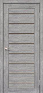 Двери Piano Deluxe PND-01 Эш Вайт стекло бронза