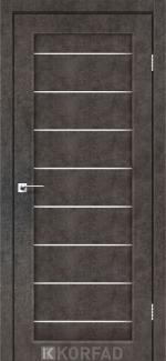 Межкомнатные двери Piano Deluxe PND-01 Корфад лофт бетон стекло Сатин