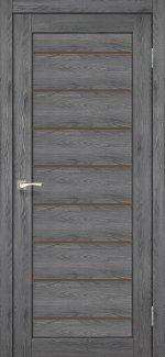 Межкомнатные двери Piano Deluxe PND-01 Корфад дуб марсала стекло бронза
