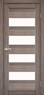 Двери Корфад Piano Deluxe PND-02 дуб грей стекло Сатин