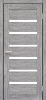 Межкомнатные двери Porto PR-01 Корфад эш вайт стекло Сатин