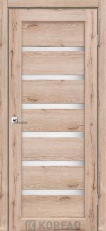 Межкомнатные двери Porto PR-01 Корфад дуб тобакко стекло Сатин