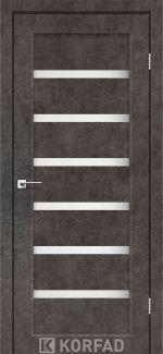 Двери Porto PR-01 лофт бетон стекло Сатин