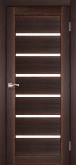 Двери Корфад Porto PR-01 орех стекло Сатин