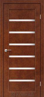 Межкомнатные двери Porto PR-01 Корфад сталь кортен стекло Сатин