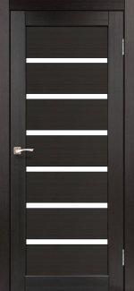 Межкомнатные двери Porto PR-01 Корфад венге стекло Сатин