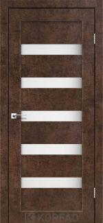 Межкомнатные двери Porto PR-03 Корфад арт бетон стекло Сатин
