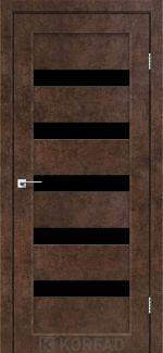 Межкомнатные двери Porto PR-03 Корфад арт бетон стекло черное