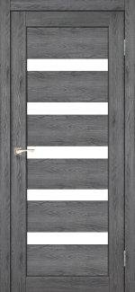 Межкомнатные двери Двері Porto PR-03 Корфад дуб марсала скло Сатін