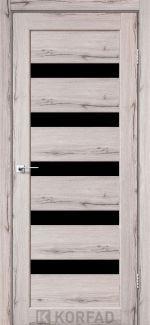 Межкомнатные двери Porto PR-03 Корфад дуб нордик стекло черное