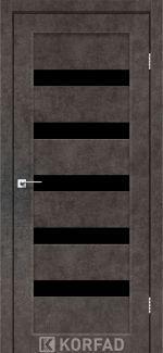 Межкомнатные двери Porto PR-03 Корфад лофт бетон стекло черное