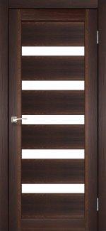 Межкомнатные двери Двері Porto PR-03 Корфад горіх скло Сатін