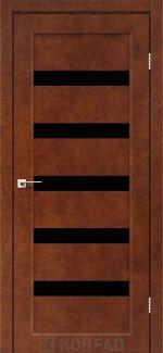 Межкомнатные двери Porto PR-03 Корфад сталь кортен стекло черное