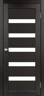 Межкомнатные двери Porto PR-03 Корфад венге стекло Сатин