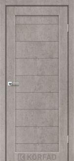 Межкомнатные двери Porto PR-05 Корфад лайт бетон глухое