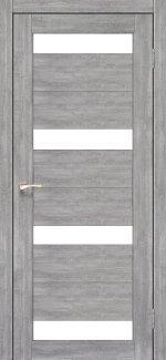 Межкомнатные двери Porto PR-06 Корфад эш вайт стекло Сатин