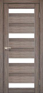 Межкомнатные двери Двері Porto PR-06 Корфад дуб грей скло Сатін