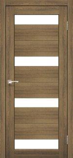 Межкомнатные двери Porto PR-06 Корфад дуб браш стекло Сатин