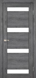 Двери Корфад Porto PR-06 дуб марсала стекло Сатин