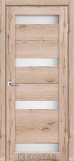 Межкомнатные двери Porto PR-06 Корфад дуб тобакко стекло Сатин