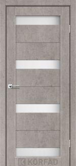 Межкомнатные двери Porto PR-06 Корфад лайт бетон стекло Сатин
