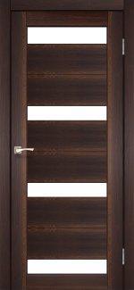 Межкомнатные двери Двері Porto PR-06 Корфад горіх скло Сатін