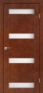 Межкомнатные двери Porto PR-06 Корфад сталь кортен стекло Сатин