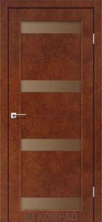 Межкомнатные двери Porto PR-06 Корфад сталь кортен стекло бронза