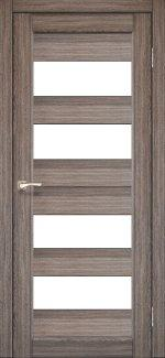Межкомнатные двери Двері Porto PR-07 Корфад дуб грей скло Сатін