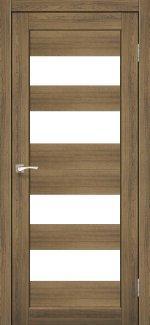 Межкомнатные двери Porto PR-07 Корфад дуб браш стекло Сатин