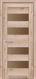 Межкомнатные двери Porto PR-07 Корфад дуб тобакко стекло бронза