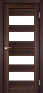 Межкомнатные двери Двері Porto PR-07 Корфад горіх скло Сатін