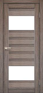 Межкомнатные двери Двері Porto PR-09 Корфад дуб грей скло Сатін