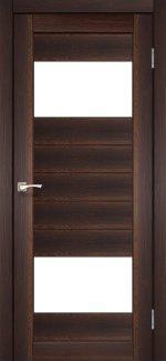 Межкомнатные двери Двері Porto PR-09 Корфад горіх скло Сатін