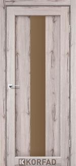 Межкомнатные двери Двери Porto PR-10 Корфад дуб нордик стекло бронза