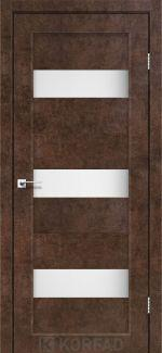 Межкомнатные двери Porto PR-11 Корфад арт бетон стекло Сатин