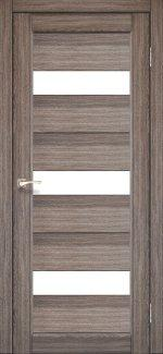 Межкомнатные двери Двері Porto PR-11 Корфад дуб грей скло Сатін