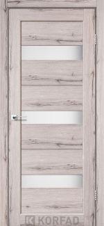 Межкомнатные двери Porto PR-11 Корфад дуб нордик стекло Сатин