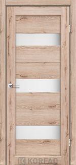 Межкомнатные двери Porto PR-11 Корфад дуб тобакко стекло Сатин