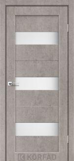 Межкомнатные двери Porto PR-11 Корфад лайт бетон стекло Сатин