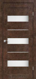 Межкомнатные двери Porto PR-12 Корфад арт бетон стекло Сатин