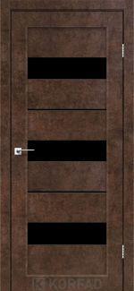 Межкомнатные двери Porto PR-12 Корфад арт бетон стекло черное
