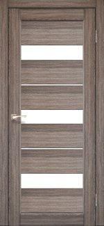 Межкомнатные двери Двері Porto PR-12 Корфад дуб грей скло Сатін