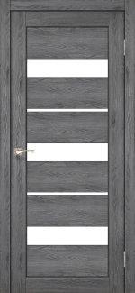 Межкомнатные двери Porto PR-12 Корфад дуб марсала стекло Сатин